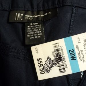 INC International Concepts Shorts - NEW International Concepts Plus 20W Shorts Navy